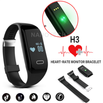 Nanotech สายรัดข้อมืออัจฉริยะ นาฬิกาอัจฉริยะ นาฬิกา สมาร์ทวอทช์ Bluetooth Pedometer Fitness Heart Rate Monitor Sports Tracker Smartband For IOS Android
