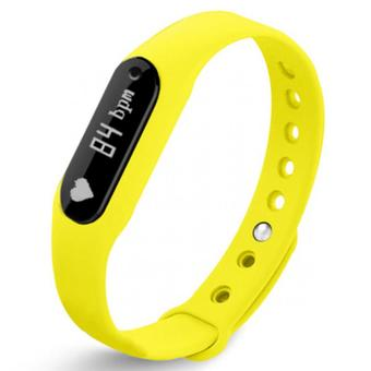 Nanotech สมาร์ทวอช Smart Wristband Health Bracelet Heart Rate Monitor Detection Sleep Fitness Tracker Pedometer - YELLOW
