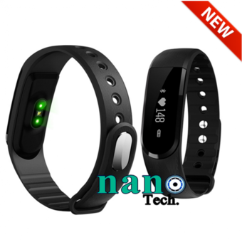 Nanotech New 2016 Sport Smart Wrist Band Heart Rate Bracelet Smartband - Pedometer Remote Control SMS Reminder Anti-Lost - สีดำ