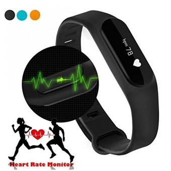 Nanotech Heart Rate Monitor Smart Wristband Bracelet For Android/ios iPhone Passometer Fitness Tracker - สีดำ