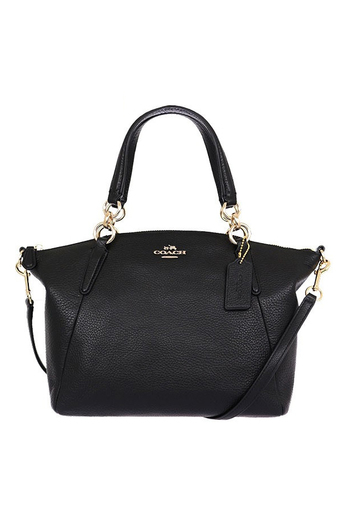COACH SMALL KELSEY SATCHEL IN PEBBLE LEATHER F36675 IMBLK (IM/Black)