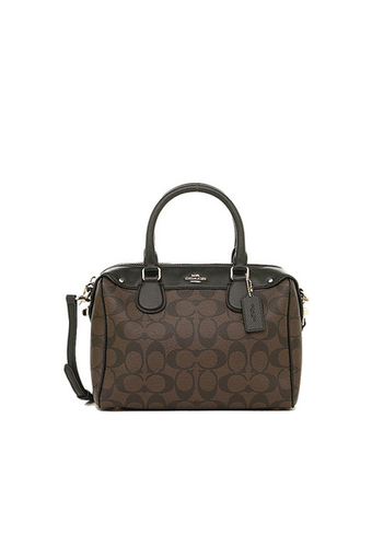 COACH MINI BENNETT SATCHEL IN SIGNATURE F36702 IMAA8 (IM/Brown/Black)
