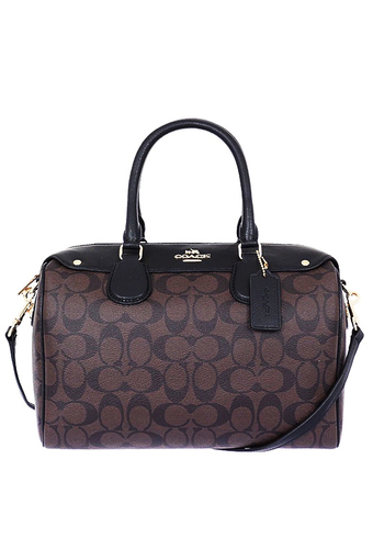 COACH BENNETT SATCHEL IN SIGNATURE F36187 IMAA8 (BROWN/BLACK)