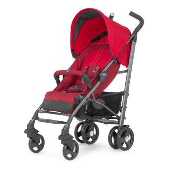 Chicco รถเข็นเด็กก้านร่ม Chicco Lite Way Basic with Bumper Bar (Red)