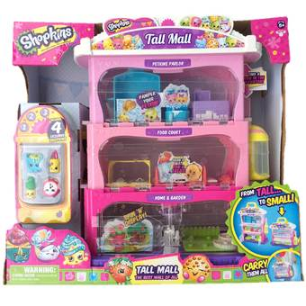 Shopkins ของเล่น Tall Mall Storage Playset