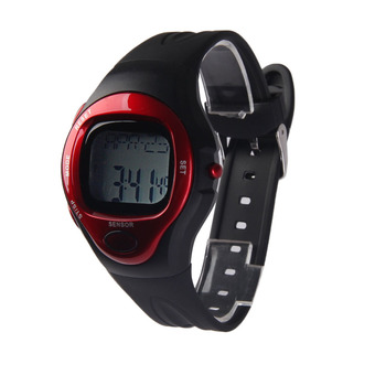 New Heart Rate Tester Monitor Watch Digital Calorie Counter Watch 008 Red (Intl)