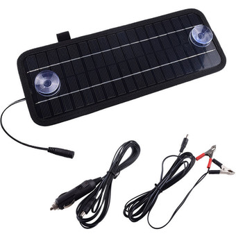 Portable Solar Panel Power Battery Charger Backup For Car Boat Automobile 12V 4.5W
