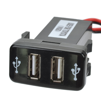 12V~24V to 5V / 2.1A 2-Port USB 2.0 Vehicle Car Power Inverter Converter for Toyota Hilux VIGO ร้านค้าดี ราคาถูกสุด - RanCaDee.com