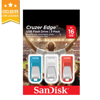 SanDisk Cruzer Edge Flash Drive (CZ51) Euro Cup 2016 Packaging (SDCZ51_016G_E46T)(5 year Waranty)