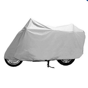 Motorcycle Cover Waterproof UV Dust Protective Motor Bike Scooter Rain Cover Size M (Silver)