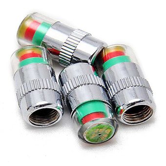 4 x Car Auto Tire Monitor Valve Dust Cap Pressure Indicator Sensor Eye Alert