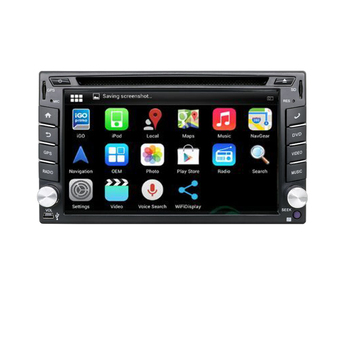 2 Din Pure Android 4.4 Car DVD GPS Player Built In GPS Navigation+Capacitive Touch Screen+Wifi+Bluetooth+Radio+Stereo+Car PC - Intl