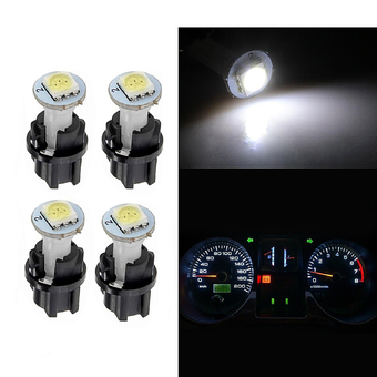 2016 281White 10pcs White T5 SMD 5050 Car LED Twist Socket Instrument Panel Dash Light Bulb
