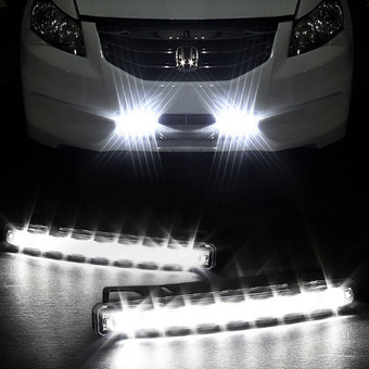CatWalk 8 Car Day Driving lamp Fog Daytime Running Light Slim LED DRL 2pcs (White)