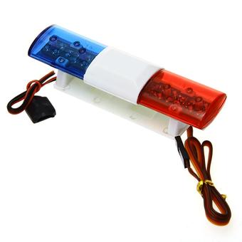 Police Patrol 360 LED Light Bar for 1/10 RC Car Truck 501 Blue+Red