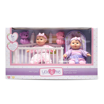 """YOU & ME YM 8"""" MINI TWINS DELUXE SET"""""""