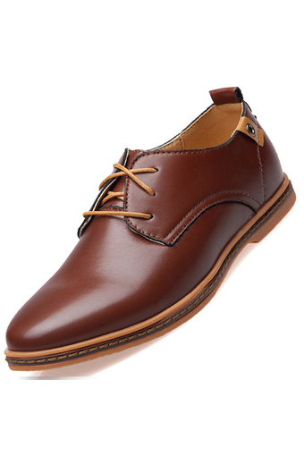 PINSV Men's Fashion Casual Oxfords Shoes(Brown) (Intl)