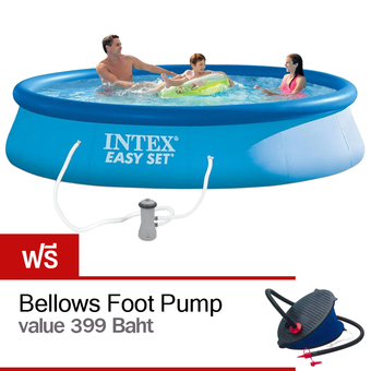 Intex 13 Feet x 33 Inches Easy Set Pool with Bellows Foot Pump