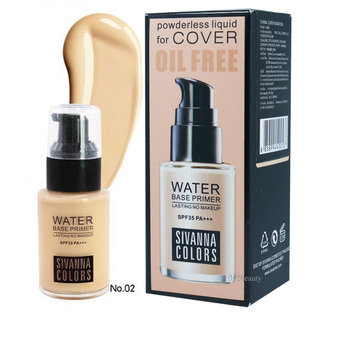 Sivanna Powderless Liquid Foundation For Cover Oil Free เบอร์ 02 (Nature Beige) 1 ขวด