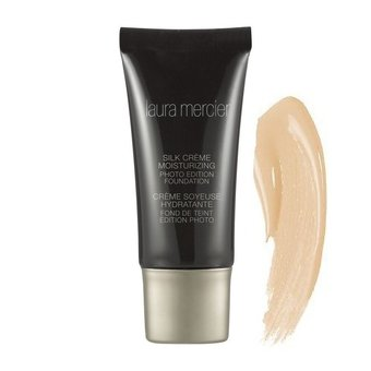Laura Mercier Silk Crème Moisturizing Photo Edition Foundation Beige Ivory ขนาดทดลอง 5 ml.