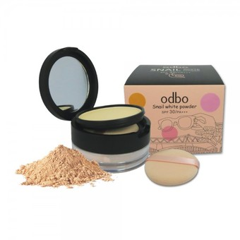 Odbo Snail white powder#02 แป้งฝุ่น 2 in 1 SFE 30/PA+++