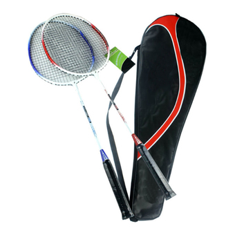 Aluminium Alloy Badminton Racket Racquet Set of 1 Pair with Bag