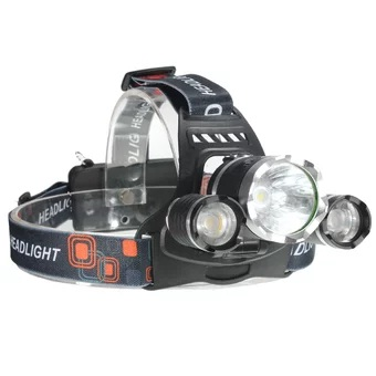 5000 Lumen CREE XM-L XML 3x T6 LED Headlight Headlamp Bike Light Flashlight