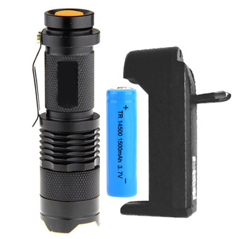 Easybuy 7w Q5 LED 3-mode Shell Portable Uv Flashlight Torch Adjustable Focus 14500+Battery+EU Charger