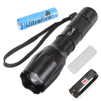 Channy Ultrafire 2200Lm CREE XML T6 LED Zoomable Flashlight Torch 5 Modes with 18650 Battery