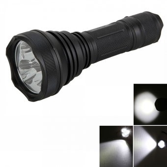 TangsFire HD-2010 CREE XML-T6 6W 3600LM 5 Mode Waterproof Flashlight Torch Black