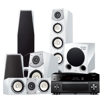 Yamaha Home Theater set รุ่น RX-A3050 Black + NS-F901 NS-B951/ 2 คู่ NS-C901 NS-SW901( White )