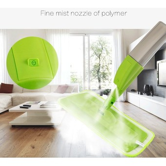 New fashion spray mop Aluminium Pole Microfiber 360 rotating mop Multifunction rotate mops floor cleaning Tools (Green) – Intl