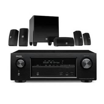 JBL + Denon AVR-X1200 + JBL CINEMA 610 (Black)