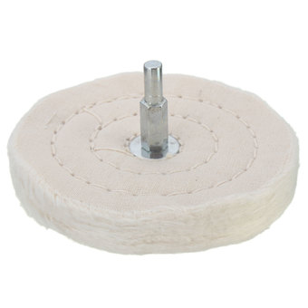 "4"" 100mm Cloth Polishing Mop Wheel for Power or Battery Drill Buffing Grinder"""