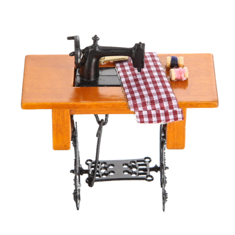Dollhouse Sewing Machine With Thread Scissors Material