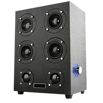 OME HPX7 Mini Home theater AT FIRST SINGHT Speakers ลำโพงบลูทูธ Hi-Fi 4.0(Black woodiness)