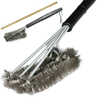 "BBQ Grill Brush 18"" Stainless Steel Barbecue Cleaning Brush Woven Wire - Intl"""