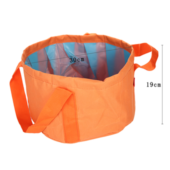 jingot Folding Bucket for Outdoor Activities Camping Hiking Collapsible Wash Basin, 4.5 Gallon (Orange)