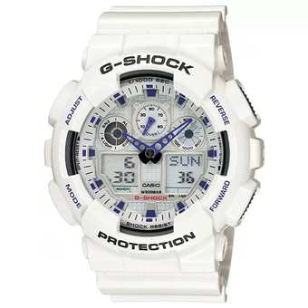 Casio G-Shock Resin Strap GA-100A-7ADR (White)