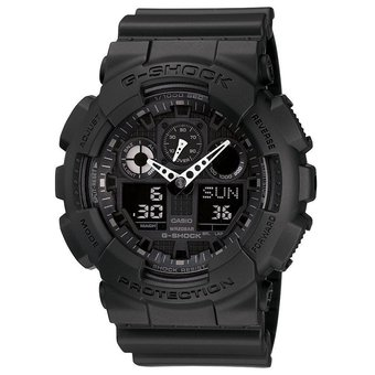 Casio G-Shock GA-100-1A1 Black and Gold Men's Watch