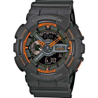 Casio G-Shock Men's Black Resin Strap Watch GA-110TS-1A4