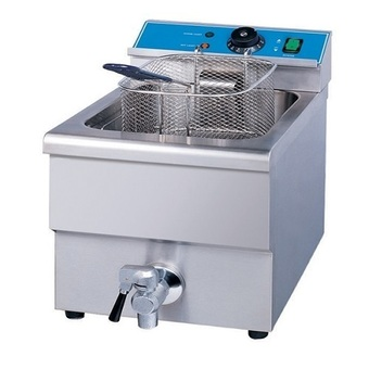 Justa เตาทอด Deep Fried 12 ลิตร Electric 1 Tank Fryer (1 Basket, Counter Top)