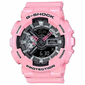 Casio G-shock GMA-S110MP-4A2 Analog Digital Black Resin Ladies Watch Pink