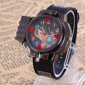 Anime Detective Conan Infrared Glass Red Light Laser Analog Boy Wrist Watch()