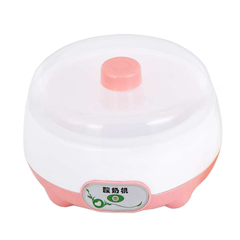 BEST DMALL Yogurt machine เครื่องทำโยเกิร์ต Portable Automatic Fruit Yogurt Maker Plastic liner D-003 Pink
