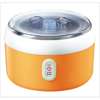 BEST HS Yogurt machine เครื่องทำโยเกิร์ต Portable Automatic Fruit Yogurt Maker Plastic liner HS-003 Orange