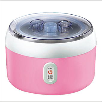BEST HS Yogurt machine เครื่องทำโยเกิร์ต Portable Automatic Fruit Yogurt Maker Plastic liner HS-003 Pink