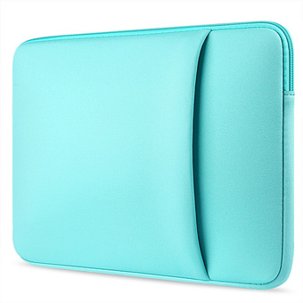 Laptop Protective Carrying Sleeve Pouch Bag with Side Pocket for Apple MacBook Pro Universal 13 inch Laptop Mint Green