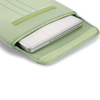 "LSS Soft Sleeve Bag Cover Case Fastener Tape for 13.3"" MacBook Air/Pro Retina Ultrabook Laptop Notebook (Green)"""