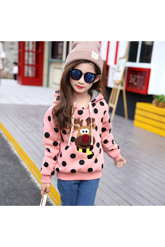 2016 Autumn and Winter Fashin Girls Clothes Warm Sweater Coats with Hooded